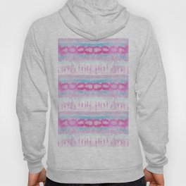 Bohemian Pink and Blue Abstract Tie Dye Pattern Hoody