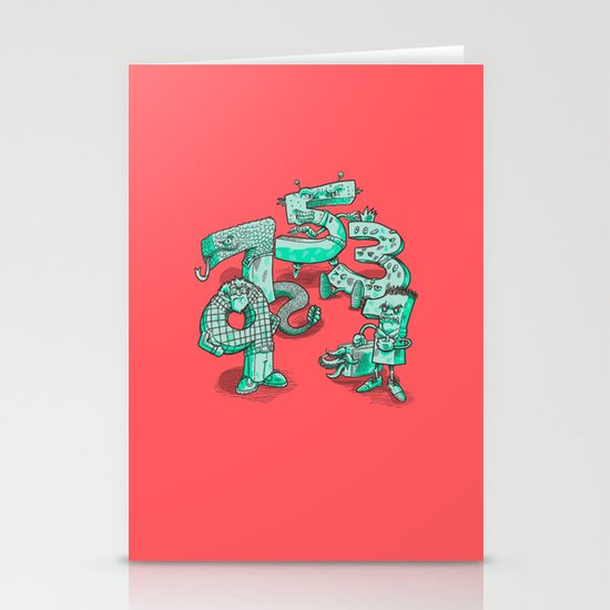Odd Numbers Stationery Cards