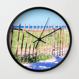 Just Another Day at the Beach Wall Clock