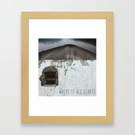 In Love With The Idea (Where It All Starts) Framed Art Print