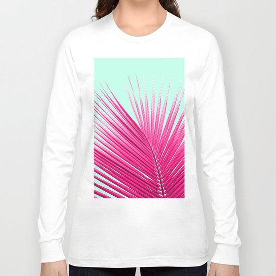 Pink Candy Cane Palm Long Sleeve T-shirt
