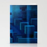 michael scott Stationery Cards featuring Scott by Kunstbehang / Edwin van Munster