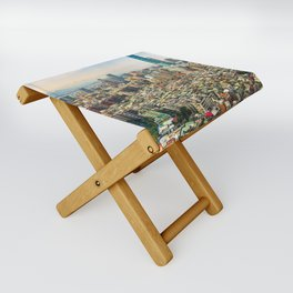 Aerial view and cityscape of Taipei, Taiwan Folding Stool