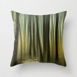 The Golden Forest Throw Pillow