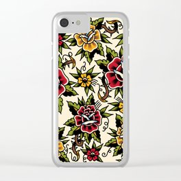 Flower tattoo Clear iPhone Case