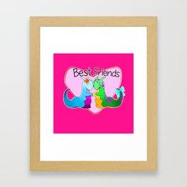 Best Friend Slugs Framed Art Print
