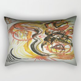 Aztec Abstract Design Rectangular Pillow