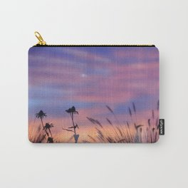 LOOK OUTSIDE - Flowers & Sunset #1 #art #society6 Carry-All Pouch