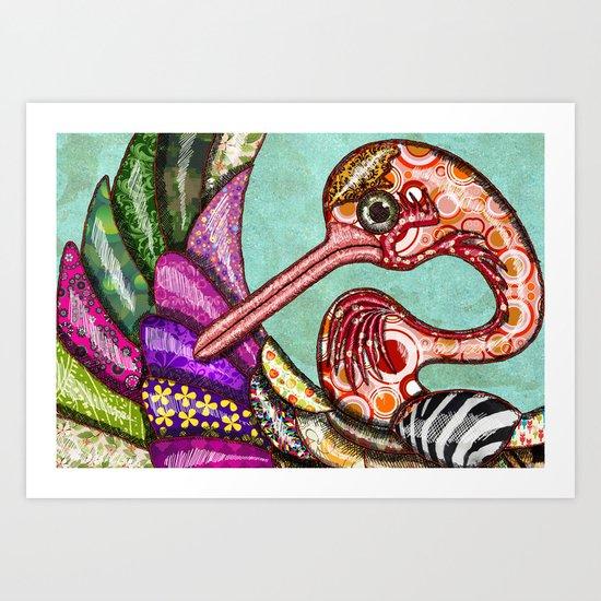 Eco Bird Art Print