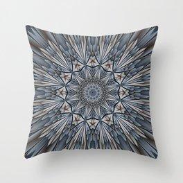 Floral explosion mandala for rejuvenation Throw Pillow