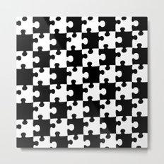 Checkerboard Puzzle Pieces Metal Print