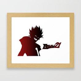 Hiruma Red Graident Framed Art Print