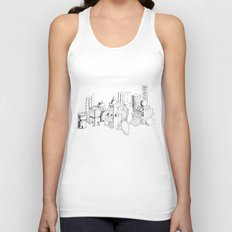 cubes and balls in the city Unisex Tank Top