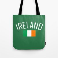 ruben ireland Tote Bags featuring Ireland by Earl of Grey