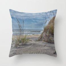 Sand Swirls Throw Pillow