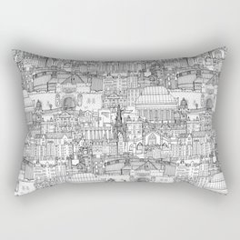 Edinburgh toile black white Rectangular Pillow