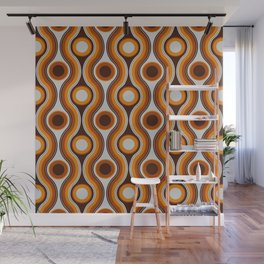 Older Patterns ~ Waves 70s Wall Mural