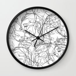 Love on Repeat Wall Clock