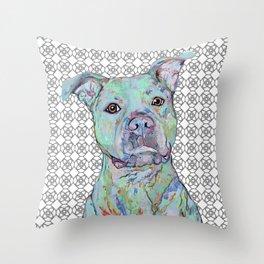 Staffy Portrait Throw Pillow