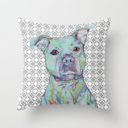 Staffy Portrait Throw Pillow