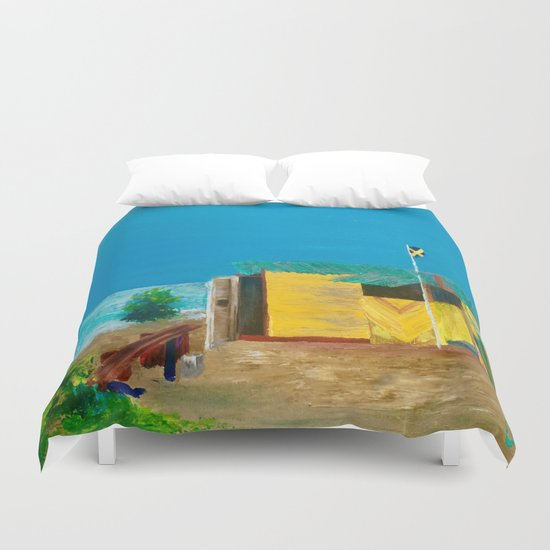Jamaica. Jamaican Blues Duvet Cover