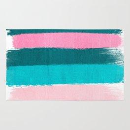 Holden - abstract painting minimal brushstrokes painterly boho modern trendy girly art Rug