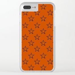 Orange stars pattern Clear iPhone Case