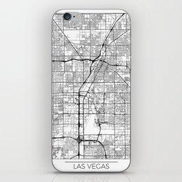 Las Vegas Map White iPhone Skin