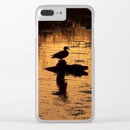 Wood Duck Silhouettes Clear iPhone Case