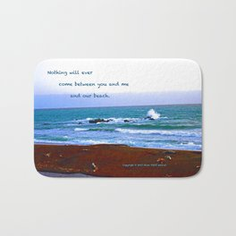 """Moonstone Beach #1"" with poem: Our Beach Bath Mat"