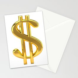 Gold Dollar Sign on White Stationery Cards