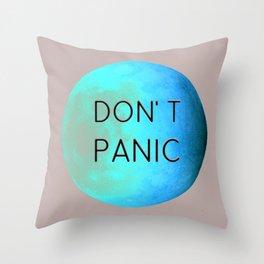 """Elon Musk Mars """"DON'T PANIC"""" Throw Pillow"""