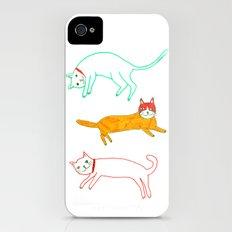 Lying cats iPhone (4, 4s) Slim Case