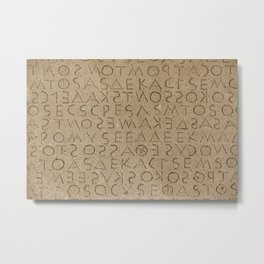 The oldest law code in Europe Metal Print