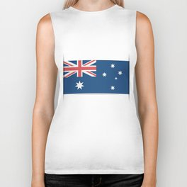Flag of Australia. The slit in the paper with shadows.  Biker Tank