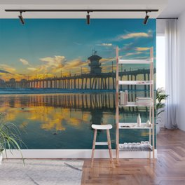 Reflections of a Huntington Sunset Wall Mural