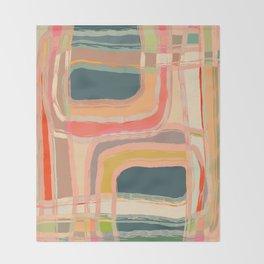 Abstract Windows Throw Blanket