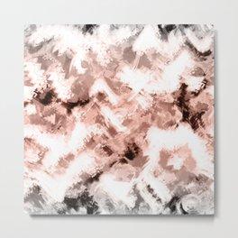 Beige gray abstract pattern Metal Print