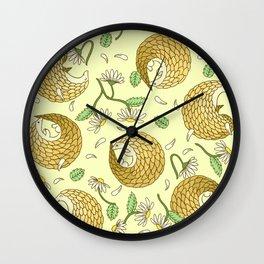 Pangolins and Daisies Wall Clock
