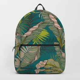 Drawing of wild tropical jungle Backpack