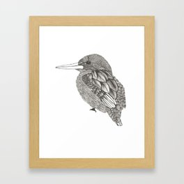 Bird kingfisher Framed Art Print