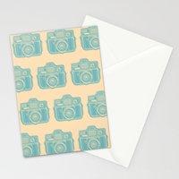 I Still Shoot Film Holga Logo - Reversed Turquoise/Tan Stationery Cards