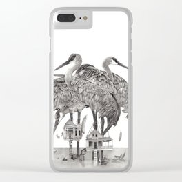 Birdhouses Clear iPhone Case