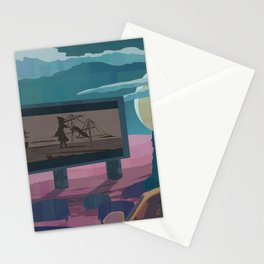Drive in Theater Stationery Cards
