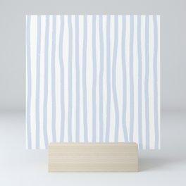 Light Blue Stripes Mini Art Print