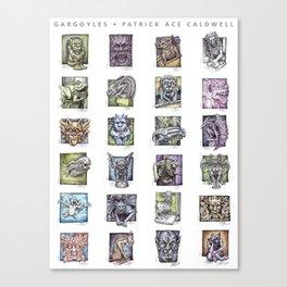 Gargoyle Compilation Print Canvas Print