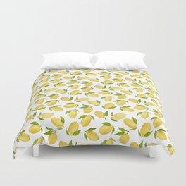 Watercolor lemon pattern Duvet Cover