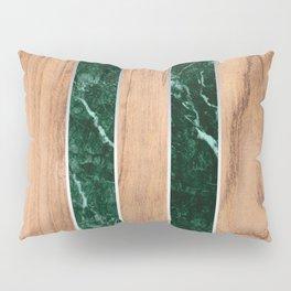 Wood Grain Stripes - Green Granite #901 Pillow Sham