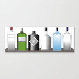 Gin Bottles Canvas Print