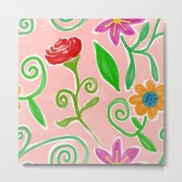 Flowery Painting Metal Print